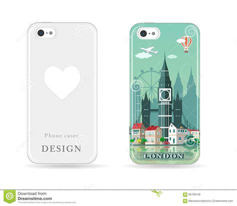 design photo case phone case design with colored print modern london city