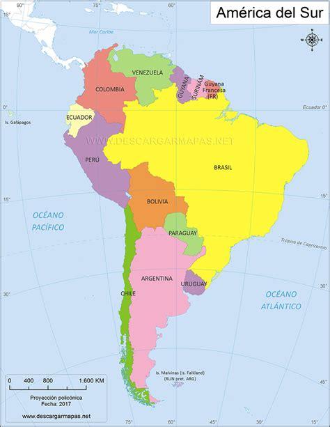 imagenes satelitales america del sur mapa pol 237 tico de am 233 rica del sur descargar mapas