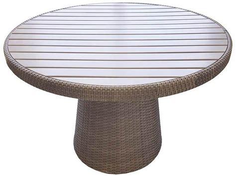 Table Patio Ronde by Table Ronde Patio Delia 44 Pouces