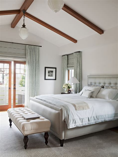 vaulted ceiling bedroom transitional bedroom annette