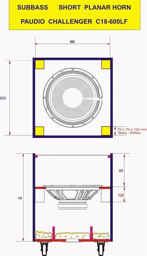 Speaker Acr Corong bentuk box speaker 18 quot pelanar horn subwoofer yang bagus