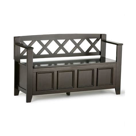 lowes entryway bench simpli home amherst entryway bench lowe s canada