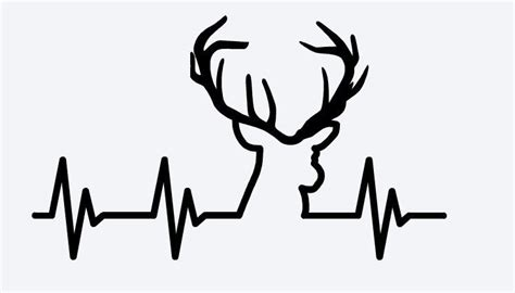 heartbeat tattoo with deer genius hunting decor ideas you can build yourself 17