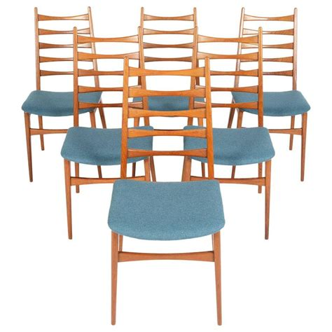 Ladder Back Dining Room Chairs by Set Of Six Teak Kofoed Style Ladder Back Dining Chairs At