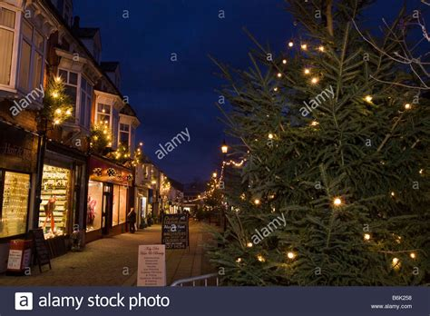 uk england cheshire stockport marple christmas tree and