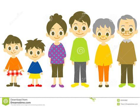imagenes sobre la familia animada familia ilustraci 243 n del vector imagen 45945882