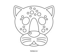 how to make a jaguar mask jaguar mask to color maske fig 252 r hayvan