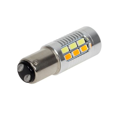 resistor in front of led 2x 1157 1142 white switchback front turn signal light led load resistors ebay