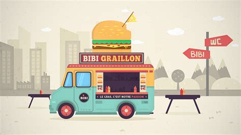 food truck design illustrator tutoriel illustration vectorielle foodtruck sur