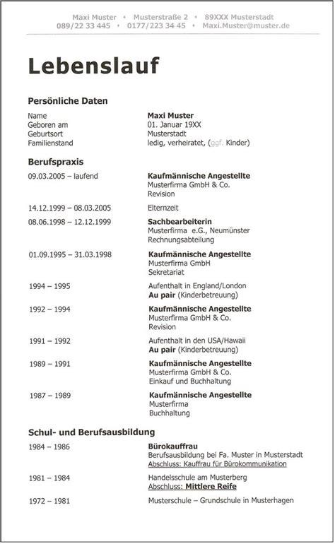 Tabellarischer Lebenslauf Fur Schulerpraktikum lebenslauf vorlage f 252 r einb 252 rgerung deckblatt bewerbung 2018