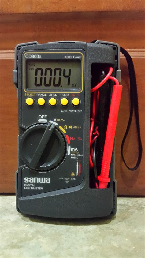 Kabel Multitester Avomiter Lancip Jarum multimeter digital merek sanwa cd800a electroside