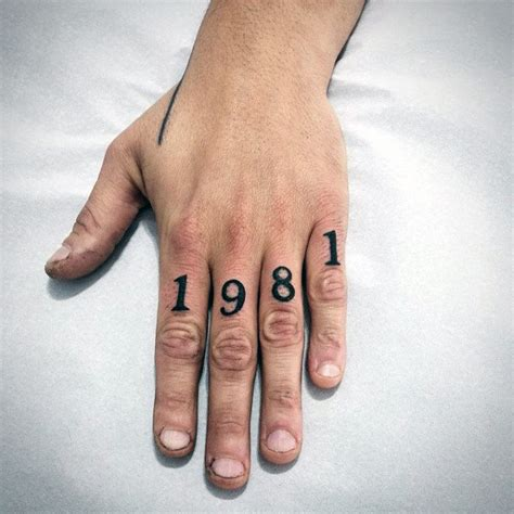 number tattoo on hand 70 number tattoos for men numerical ink design ideas