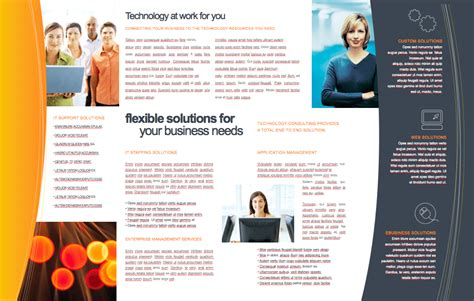 technology 11 x 17 brochure template free iwork templates