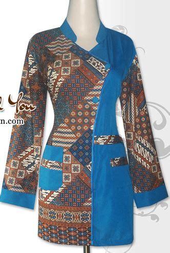 Baju Wanita 2 25 contoh model baju batik kombinasi 2 motif 2018