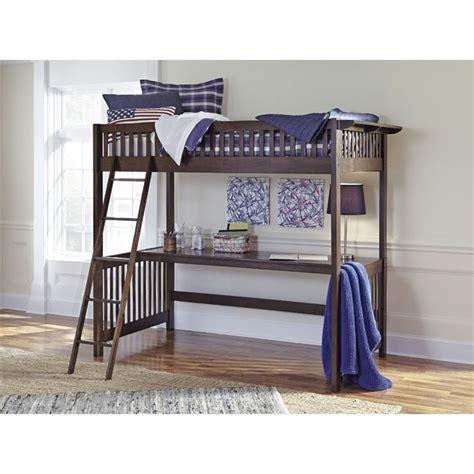 ashley loft bed ashley strenton twin loft bed with desk b568 57d 57p 57r kit