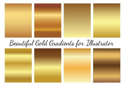 color overlay illustrator gold vector gradients free vector stock