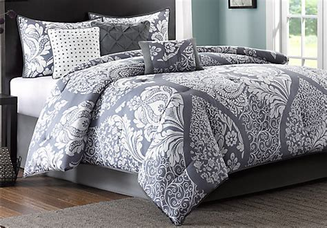 grey comforter sets queen cora gray 7 pc queen comforter set queen linens gray