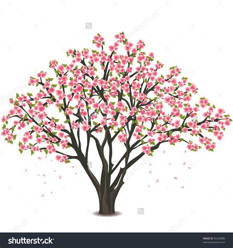 cute trees cherry tree clipart cute flower tree pencil and in color