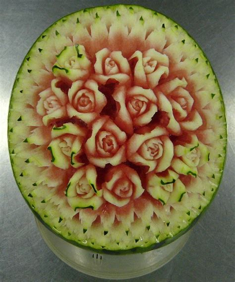 Arcadia Home Decor by Watermelon Carving Flower Food Art Pinterest