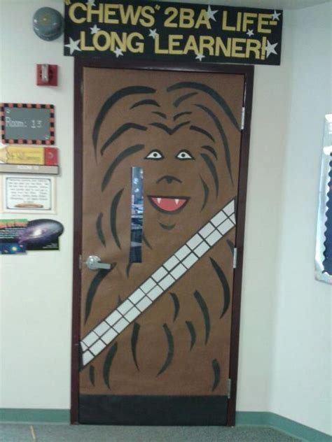 Wars Classroom Decorations by When Challenged To Decorate A Quot Non Cutesy Quot Door For A