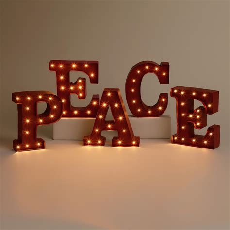 Peace Battery Operated Marquee Lights World Market Marquee Lights