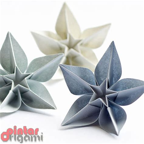 Origami Bunga - pin poinsettia origamiorigami do origami on