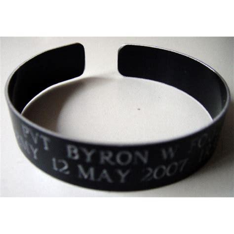 Kia Bracelets Custom Order Black Aluminum Kia Bracelet