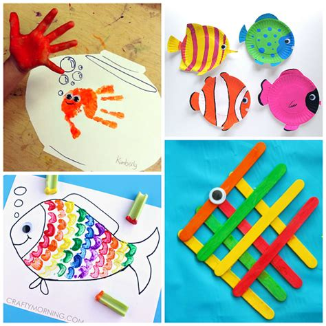 kid crafts creative fish crafts for crafty morning