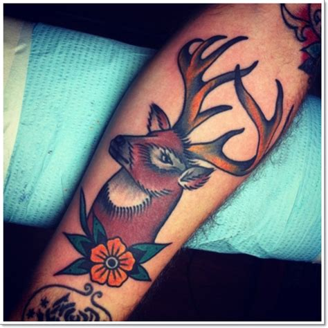traditional deer tattoo traditional deer for