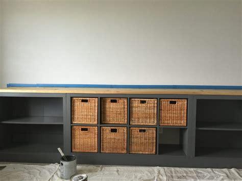 ikea hack expedit into long storage unit ikea hack ikea hack expedit into long storage unit honeybear lane