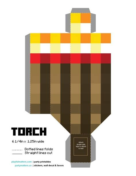 Minecraft Torch Papercraft - 17 best images about taymour on minecraft mobs