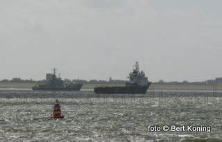 scheepvaart noordzee volgen centrale waarschuwt voor vermist platform bij den helder