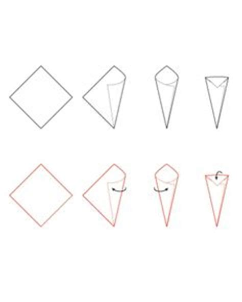 How To Fold Paper Into A Cone - printable paper cone template i needed this about a month