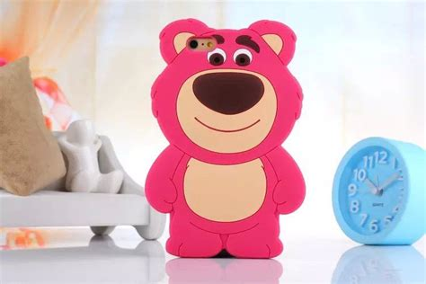 Iphone 7 3d Silicone Line Brown Fashion Casing Cover Bumper 3d disney lotso silicone soft for