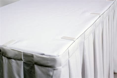 table with velcro adjustable table white with fastener direct linen