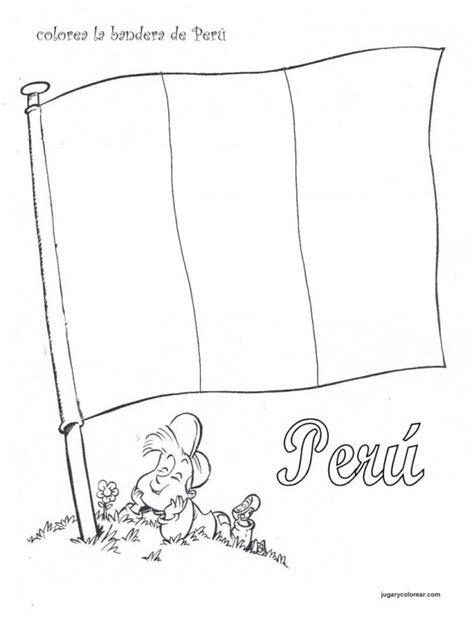 la bandera de peru para colorear la bandera peruana para colorear imagui