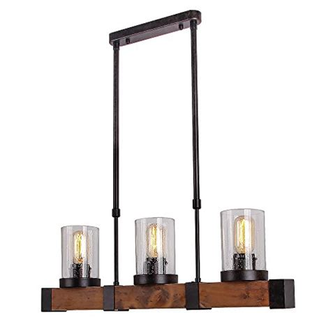 decoration glass kitchen light fixtures anmytek metal wood and glass chandelier pendent light