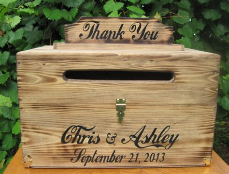 Large Wedding Gift Card Box - large rustic wedding card box keepsake chest by dlightfuldesigns