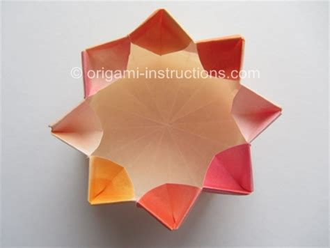 How To Make A Paper Octagon - origami octagonal container folding