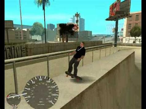 gta sa skateboard ( mod ;x ) youtube