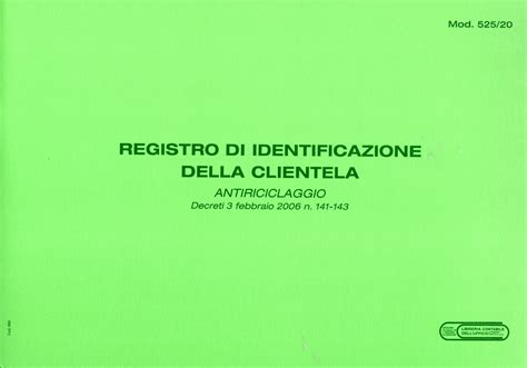 libreria contabile bergamo registro di identificazione della clientela per