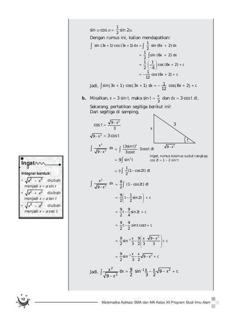 Matematika Sma Kelas 3 Ipa buku pelajaran sma kelas 12 matematika aplikasi program