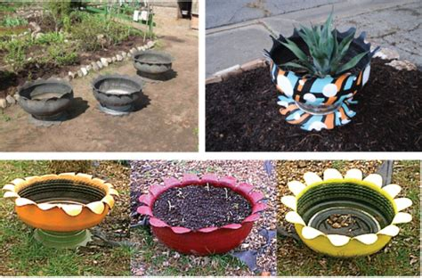 Garden Decorations From Tires 2 Find Fun Art Projects To Tire Garden Ideas