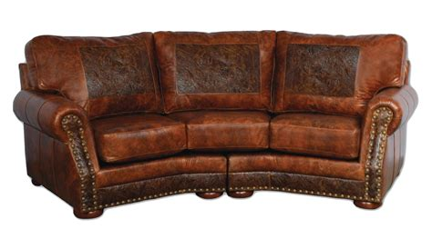 Cameron ranch conversation sofa antiquity ember amp cosmopolitian tooled leather