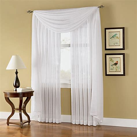 sheer curtains bed bath and beyond caprice sheer rod pocket window curtain panels bed bath