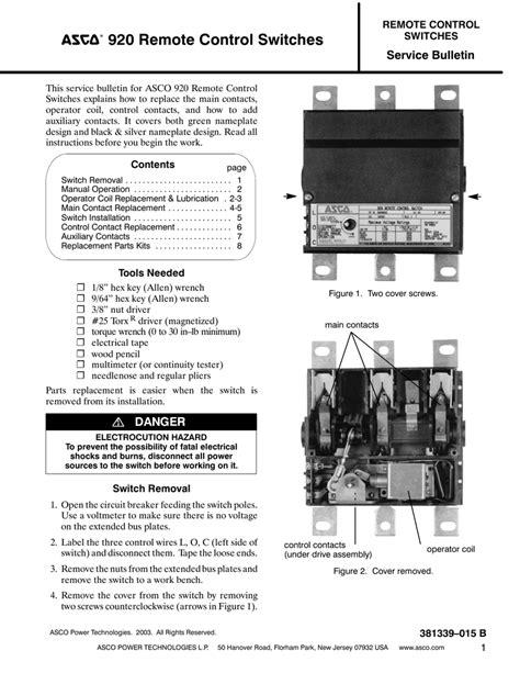 asco 920 contactor wiring diagram contactor relay wiring
