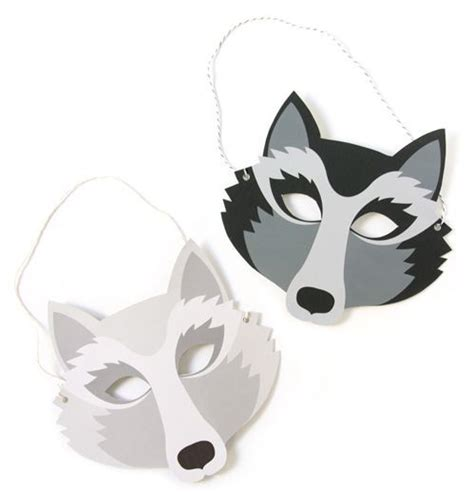 printable paper mask wolf mask printable lets play dress up cakepins com