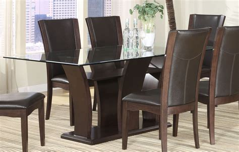 brown glass top dining table from homelegance 710