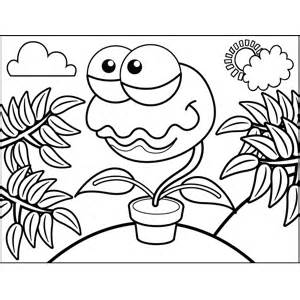 venus fly trap coloring page