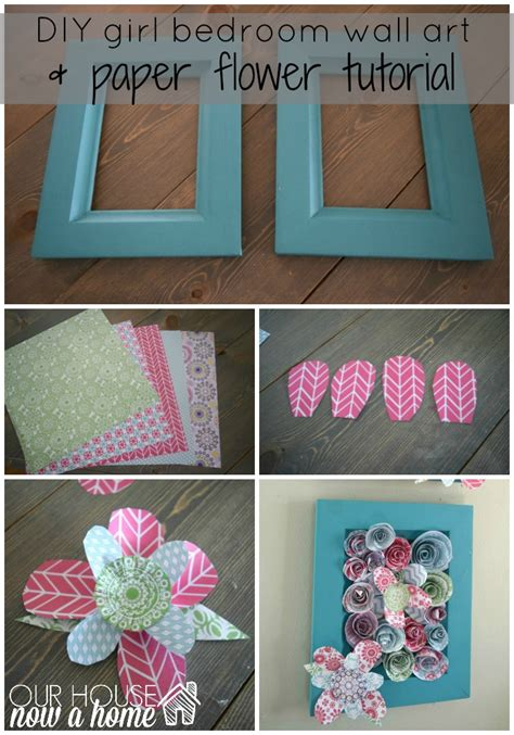 How To Make Paper Wall Flowers - how to make wall using paper flowers our house now a